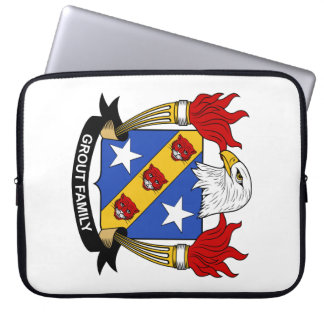 Grout Family Crest Laptop Computer Sleeve