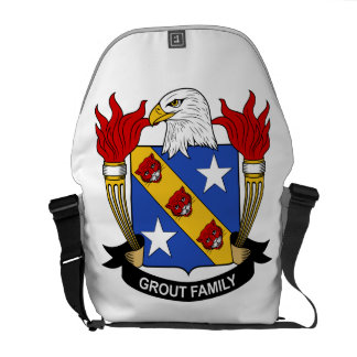Grout Family Crest Messenger Bags
