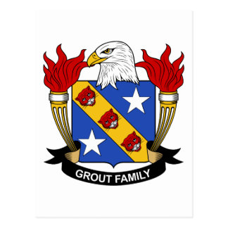Grout Family Crest Postcard