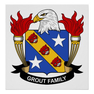 Grout Family Crest Print