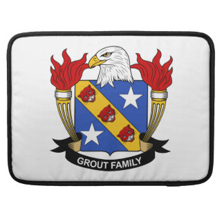 Grout Family Crest Sleeves For MacBooks