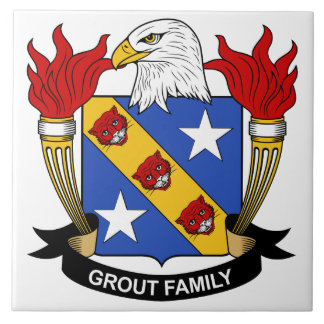 Grout Family Crest Tiles