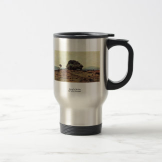 Grove By The Sea By Fattori Giovanni 15 Oz Stainless Steel Travel Mug