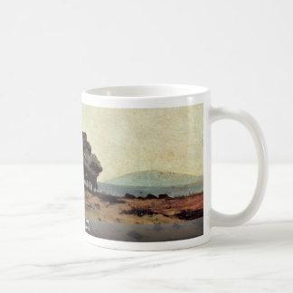 Grove By The Sea By Fattori Giovanni Classic White Coffee Mug