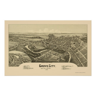 Grove City PA Panoramic Map - 1901 Posters
