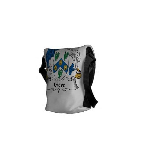Grove Family Crest Messenger Bags