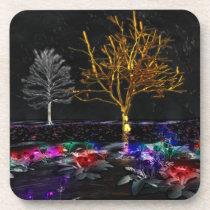 Grove of Living Gems Cork Coaster