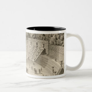 Grove of the Salle du Bal, Versailles, from 'Les P Two-Tone Coffee Mug