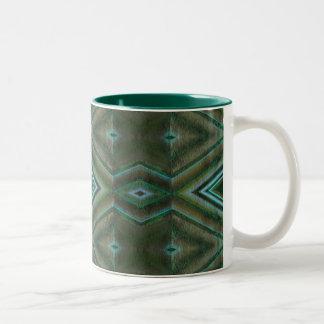 grove pattern Two-Tone coffee mug