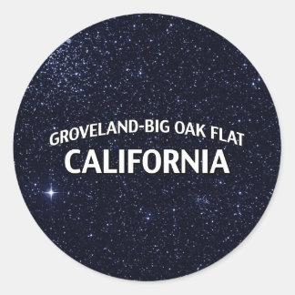 Groveland-Big Oak Flat California Classic Round Sticker
