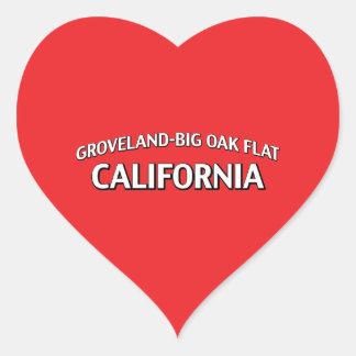 Groveland-Big Oak Flat California Heart Sticker