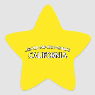 Groveland-Big Oak Flat California Star Sticker