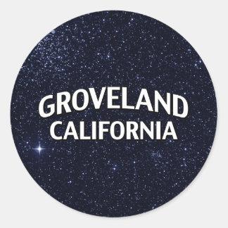 Groveland California Classic Round Sticker