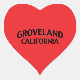 Groveland California Heart Sticker