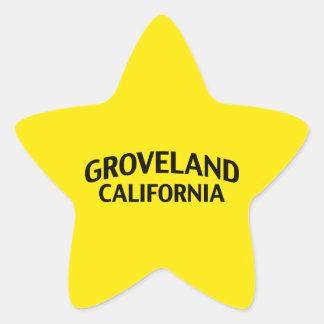 Groveland California Star Sticker
