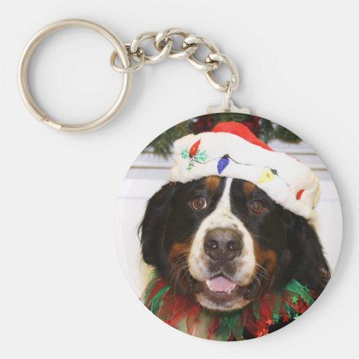 Grover - Bernese Mountain Dog Basic Round Button Keychain