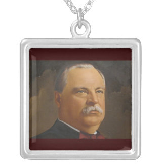 Grover Cleveland  22 &24th President Silver Plated Necklace