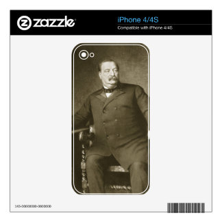 Grover Cleveland, 22nd and 24th President of th Un Decal For The iPhone 4S