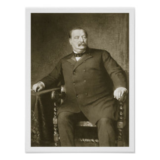 Grover Cleveland, 22nd and 24th President of th Un Poster