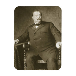 Grover Cleveland, 22nd and 24th President of th Un Rectangle Magnet