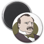 Grover Cleveland 2 Inch Round Magnet