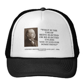 Grover Cleveland Elected Re-Elected Unless Stand Mesh Hat