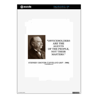 Grover Cleveland Officeholders Agents Of People iPad 2 Decal