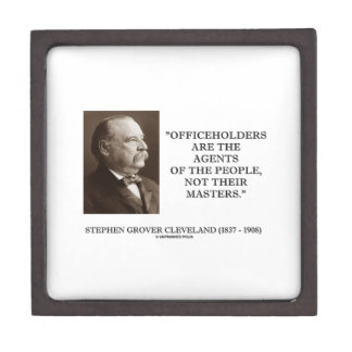 Grover Cleveland Officeholders Agents Of People Jewelry Box