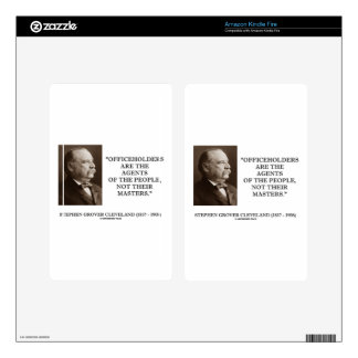 Grover Cleveland Officeholders Agents Of People Skins For Kindle Fire