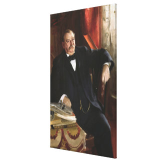 GROVER CLEVELAND Portrait by Anders Leonard Zorn Canvas Print