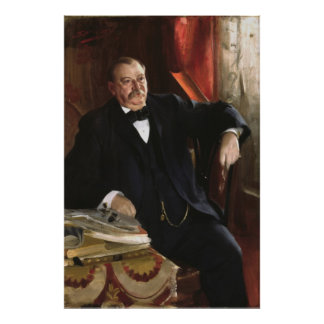 GROVER CLEVELAND Portrait by Anders Leonard Zorn Poster