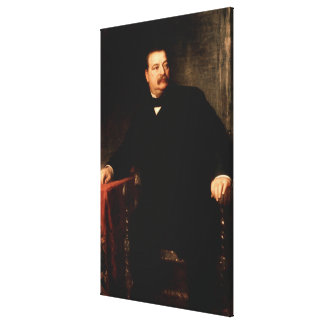 GROVER CLEVELAND Portrait by Eastman Johnson Print Canvas Print