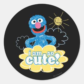 Grover Cute Classic Round Sticker