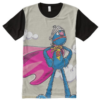 Grover estupendo playera con estampado integral