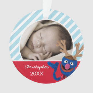 Grover Face Art | Add Your Name & Photo Ornament
