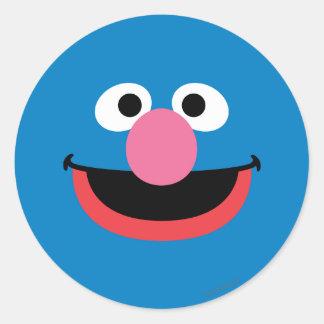 Grover Face Art Classic Round Sticker