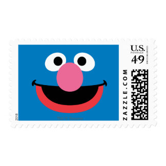 Grover Face Art Postage Stamp
