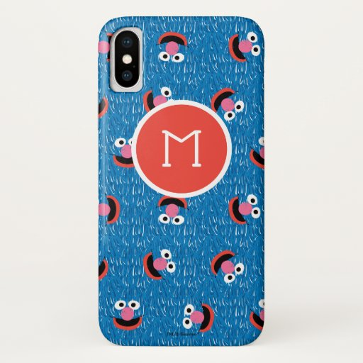Grover Furry Face Pattern iPhone X Case