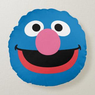 Grover hace frente a arte cojín redondo