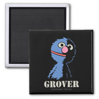 Grover Half 2 Inch Square Magnet