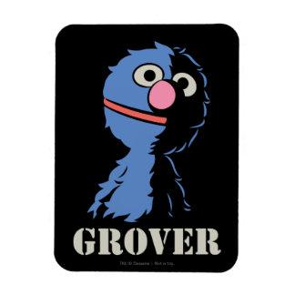 Grover Half Rectangular Photo Magnet