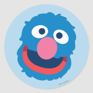 Grover Head Classic Round Sticker