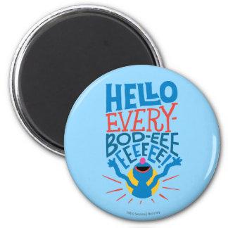 Grover Hello 2 Inch Round Magnet