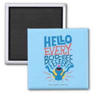 Grover Hello 2 Inch Square Magnet