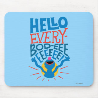 Grover Hello Mouse Pad