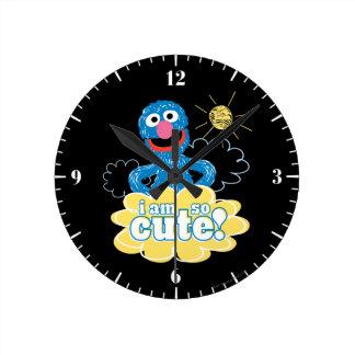 Grover lindo reloj redondo mediano