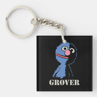 Grover medio llavero cuadrado acrílico a doble cara