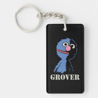 Grover medio llavero rectangular acrílico a doble cara