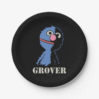 Grover medio plato de papel 17,78 cm