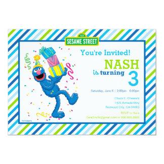 """Grover rayó cumpleaños invitación 5"""" x 7"""""""